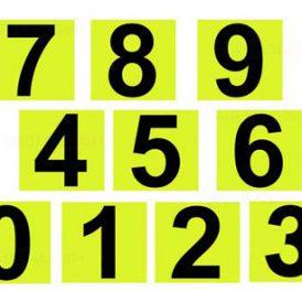 Números refletivos 3M