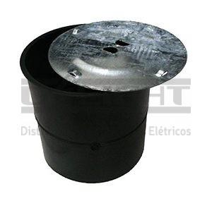 CAIXA DE INSPEÇÃO EM PVC COM TAMPA EM AÇO GALVANIZADO