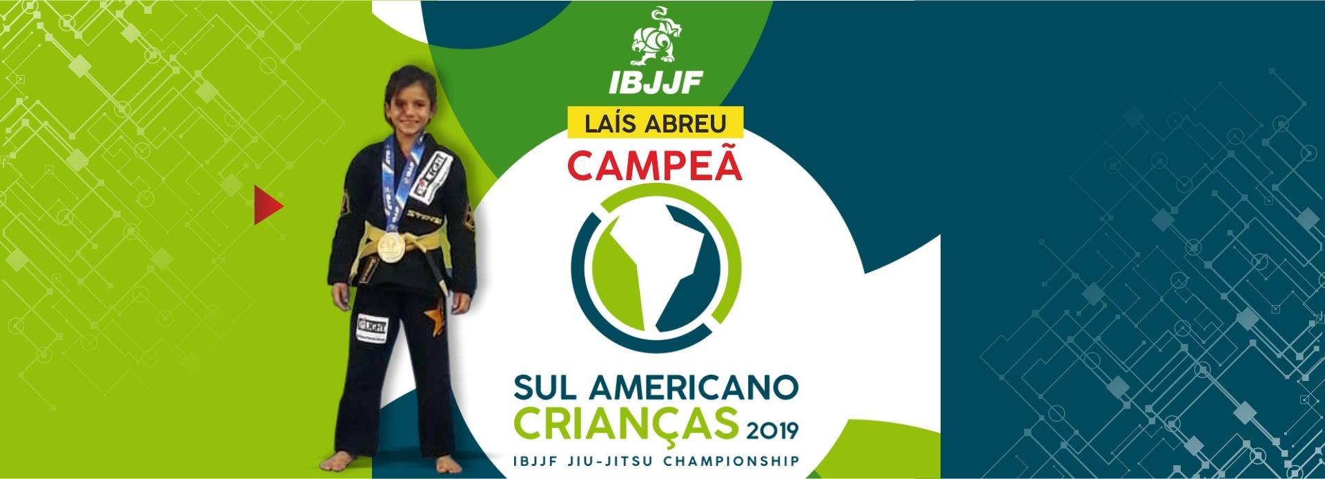 Lais Campeã Sul Americana
