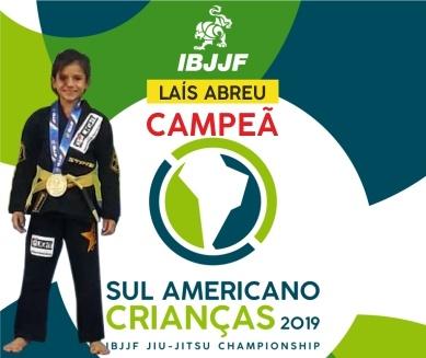 Laís Campeã Sul Americana